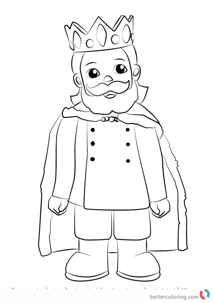 King Friday XIII from Daniel Tiger's Neighborhood coloring pages printable