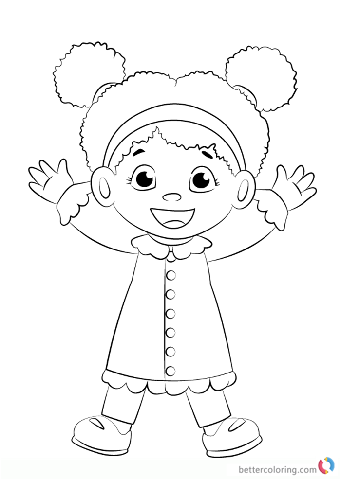 Miss Elaina from Daniel Tiger Coloring