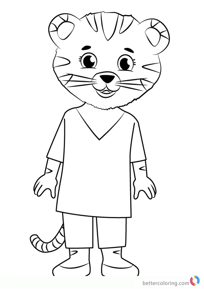 Mom Tiger From Daniel Tiger Coloring Pages Free