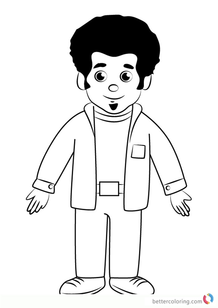 Music Man Stan from Daniel Tiger Coloring Pages - Free Printable ...