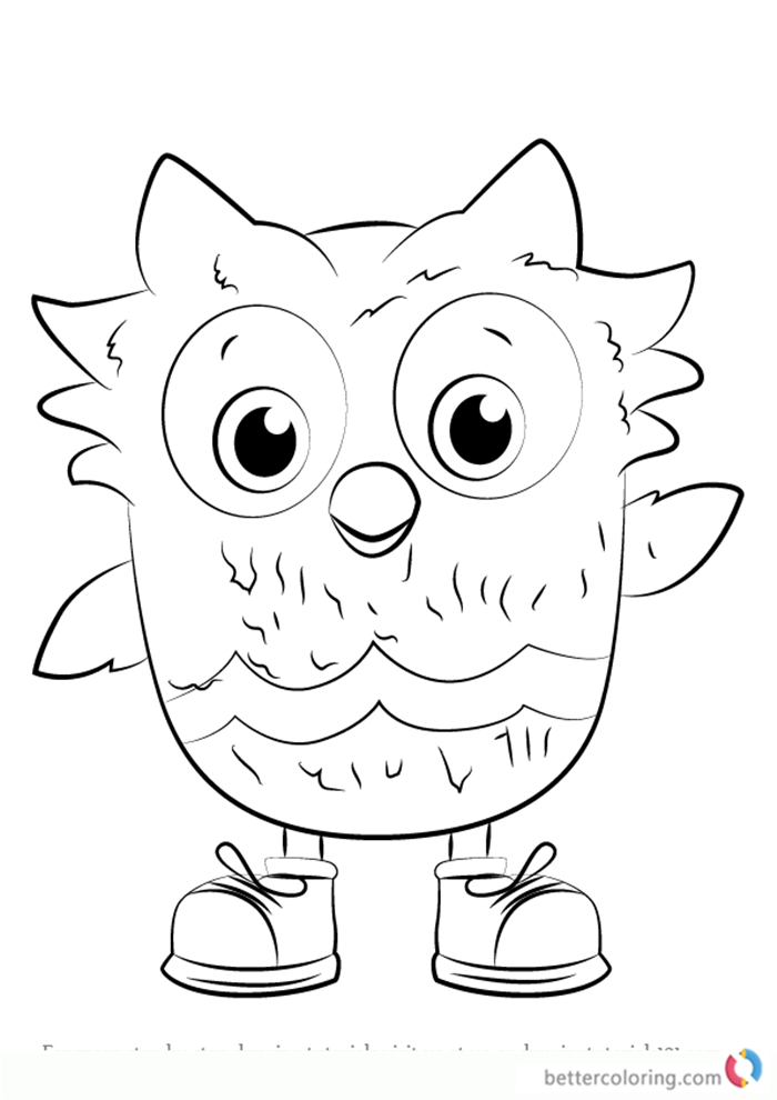 O the Owl from Daniel Tiger's Neighborhood coloring pages printable