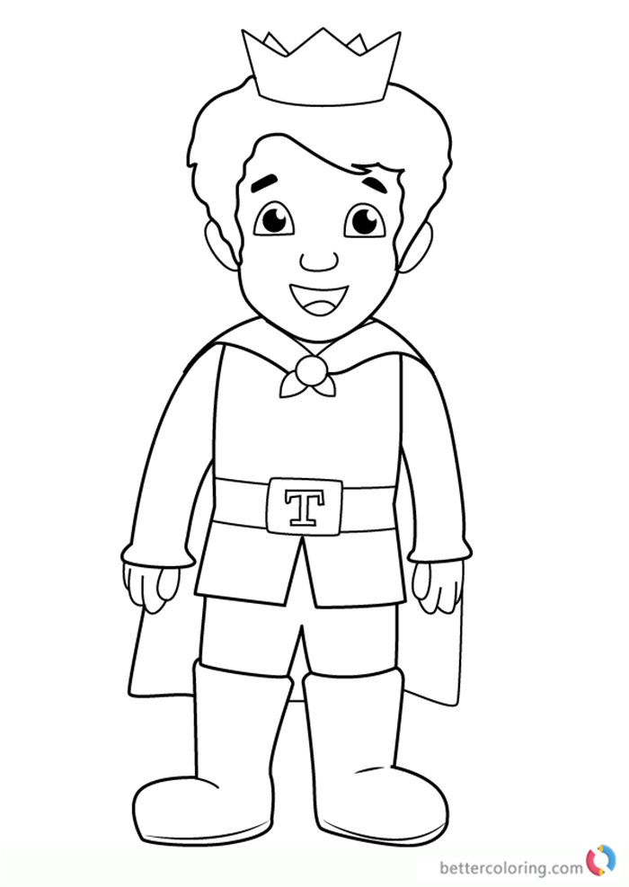Prince Tuesday from Daniel Tiger's Neighborhood coloring pages printable