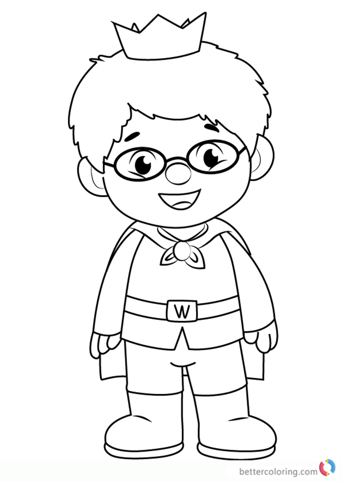 Prince wednesday from daniel tiger coloring pages free for Daniel tiger coloring pages
