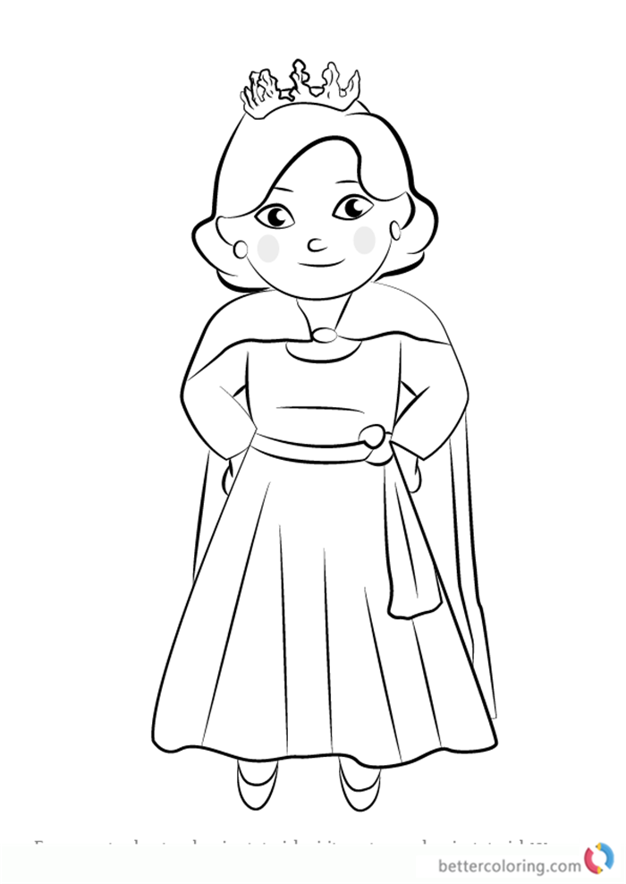 Queen Saturday from Daniel Tiger's Neighborhood coloring pages printable