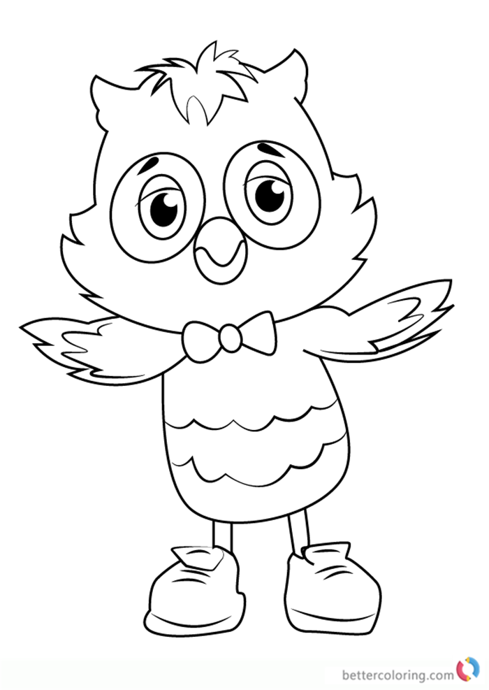 X the Owl from Daniel Tiger's Neighborhood coloring pages printable