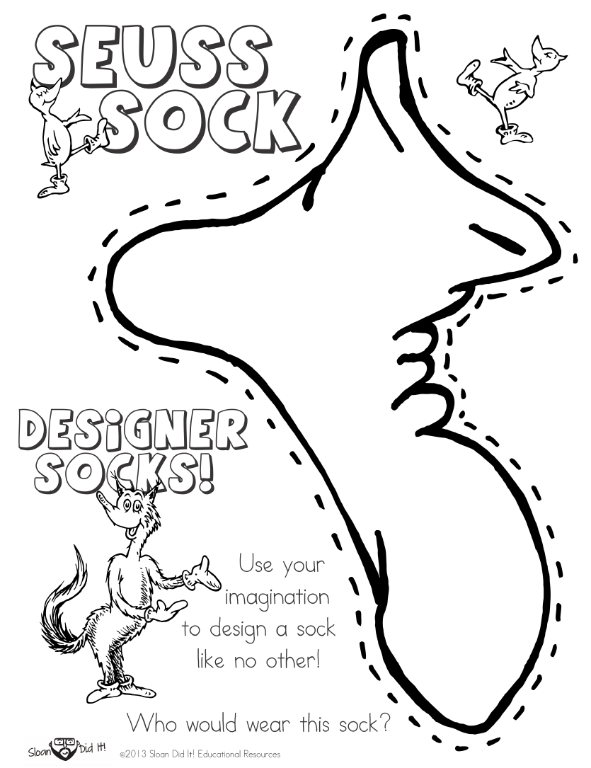 Dr Seuss Fox in Socks Coloring