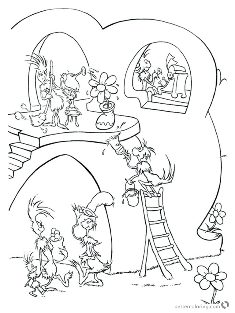 Dr Seuss Green eggs and Ham Coloring Pages Busy Working - Free ...
