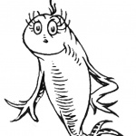 Dr Seuss One Fish Two Fish Coloring Pages Colorful Cute Fish