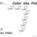 One Fish Two Fish by Dr Seuss Coloring Pages Fish Number 7