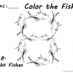 One Fish Two Fish Coloring Pages Number Eight