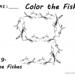 Dr Seuss One Fish Two Fish Coloring Pages Number Nine Worksheet