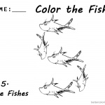 Dr Seuss One Fish Two Fish Coloring Pages number five worksheet