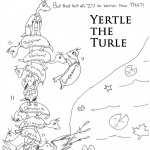 Dr Seuss Yertle the Turtle Coloring Page Lineart