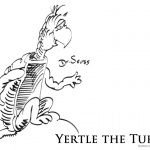 Dr Seuss Yertle the Turtle Coloring Page Turtle Sitting on a Rock