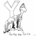 Dr Seuss Yertle the Turtle Coloring Page Turtle with Letter Y