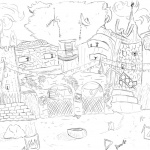 Fortnite coloring pages imagining a level