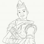 Fortnite hero coloring pages by El Tonyno