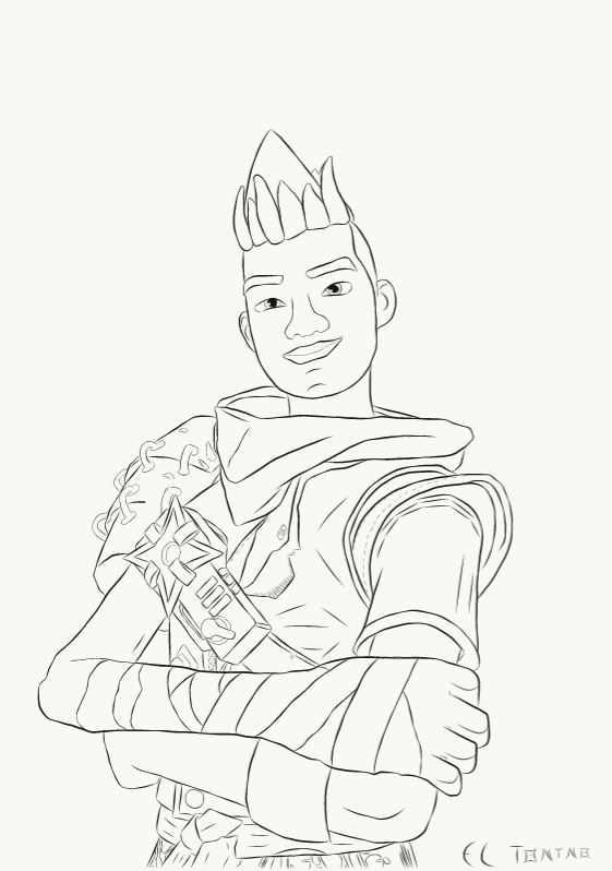 Fortnite coloring pages hero printable