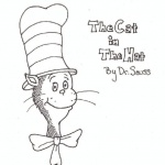 Free Dr Seuss The Cat in the Hat Coloring Pages