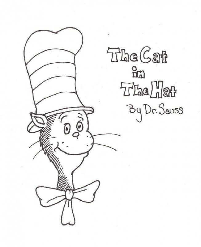 Free Dr Seuss The Cat In Hat Coloring Pages