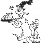 Funny Dr Seuss Green eggs and Ham Coloring PagesqFunny Dr Seuss Green eggs and Ham Coloring Pages