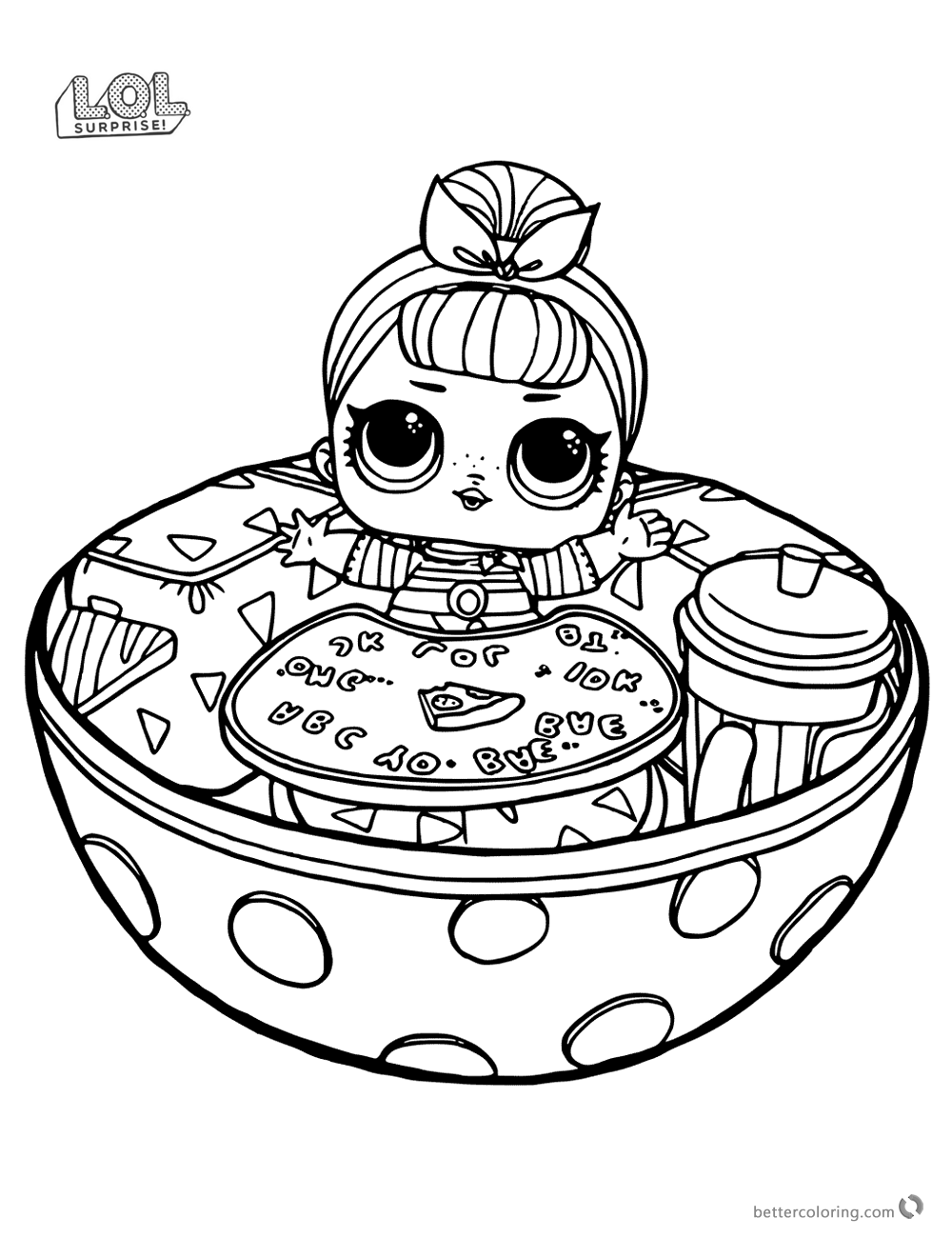 Funny Lol Surprise Doll Coloring Pages Free Printable Coloring Pages