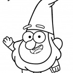 Gravity falls coloring pages Gnomes say Hi