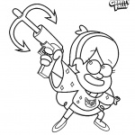 Gravity falls coloring pages Mabel Ready to Shot