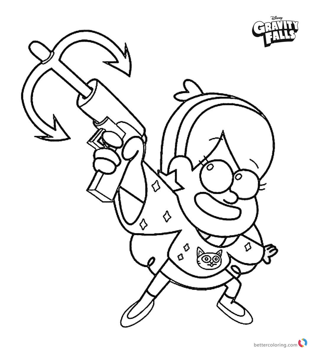 Gravity falls coloring pages Mabel Ready to Shot printable