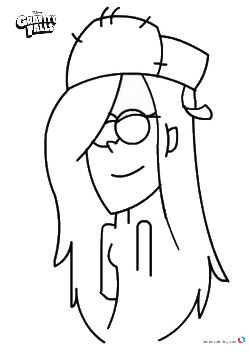 Gravity Falls coloring pages Wendy Sketch printable