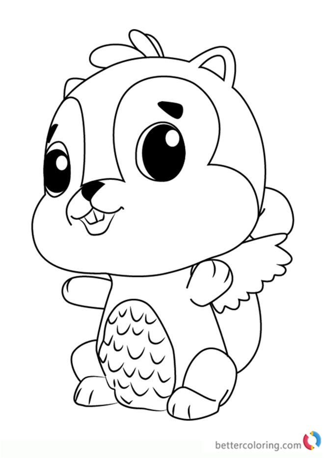 Chipadee from Hatchimals Coloring