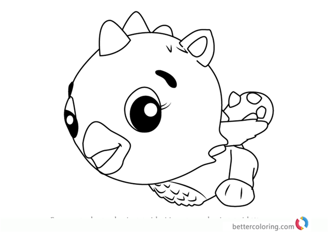 Cloud Draggle from Hatchimals Coloring