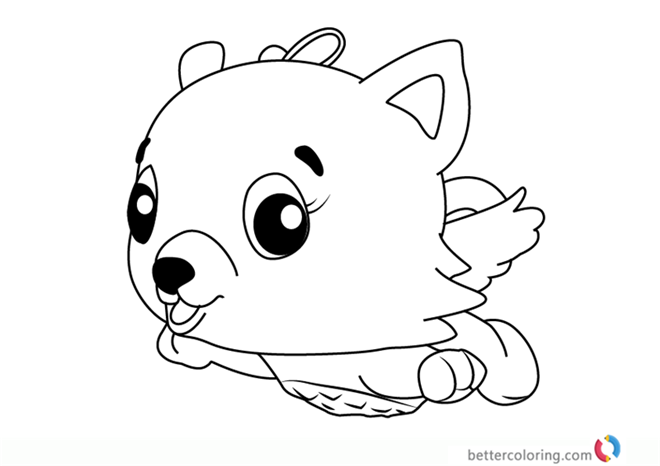 Cloud Kittycan From Hatchimals Coloring Pages Free