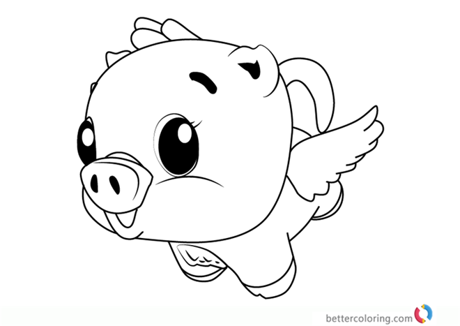 Cloud Pigpiper from Hatchimals coloring pages printable