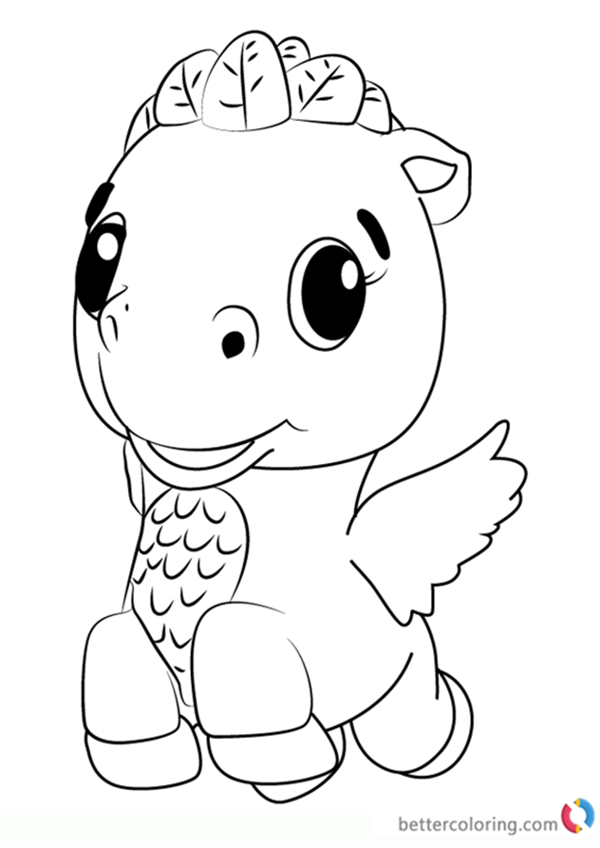 Cloud Ponette From Hatchimals Coloring Pages
