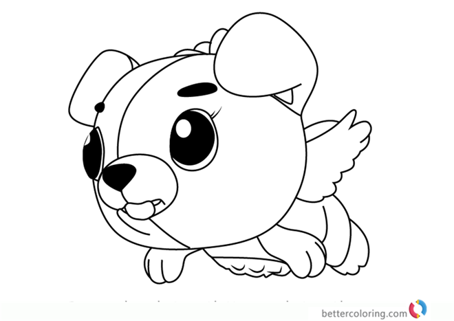 Cloud Puppit From Hatchimals Coloring Pages