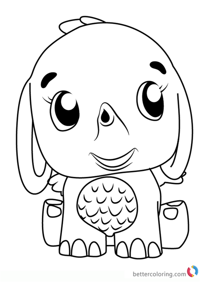 Elefly from Hatchimals Coloring Pages - Free Printable ...