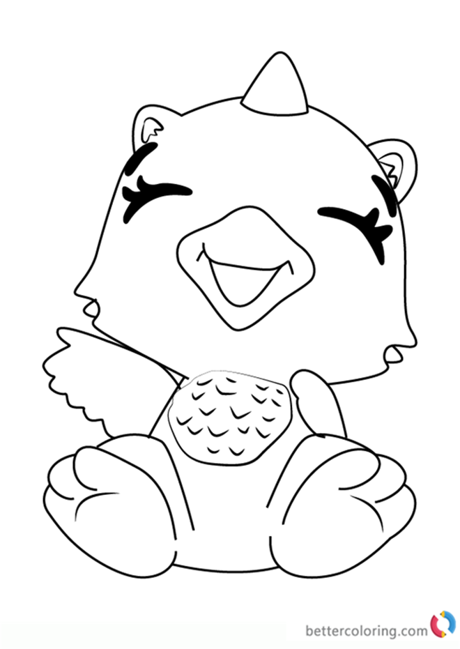 Giggling Draggle from Hatchimals coloring pages printable