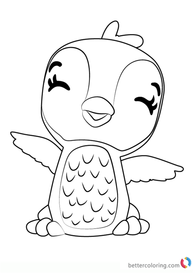 Giggling Penguala From Hatchimals Coloring Pages