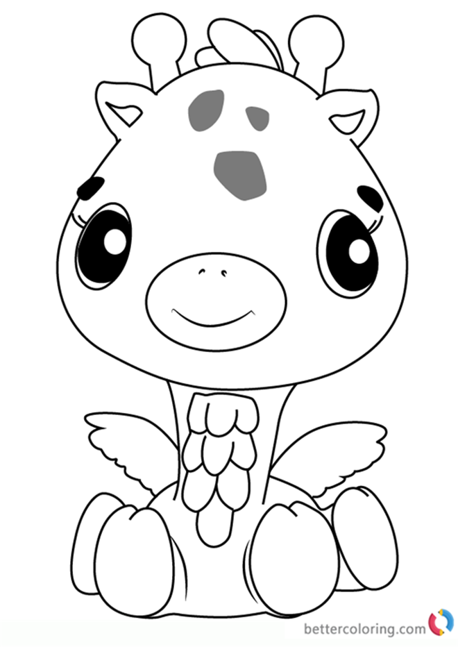 Girreo from Hatchimals coloring pages printable