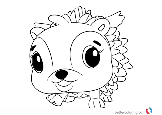 Hedgyhen from Hatchimals Coloring
