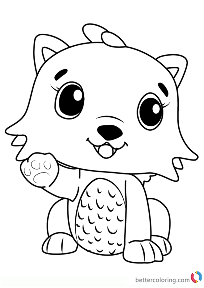 Kittycan from Hatchimals coloring pages printable