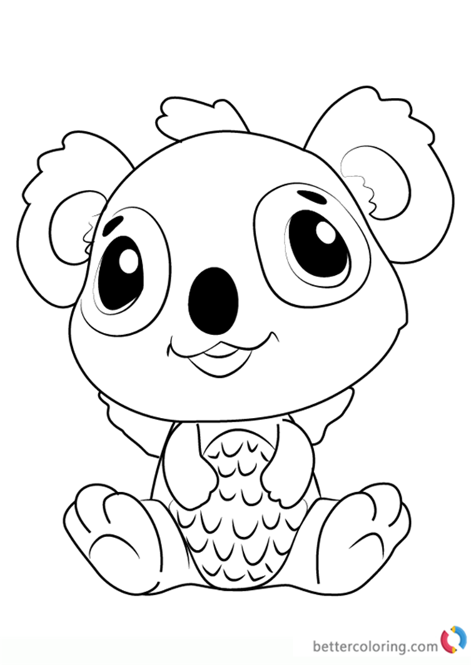 Koalabee from Hatchimals coloring pages printable
