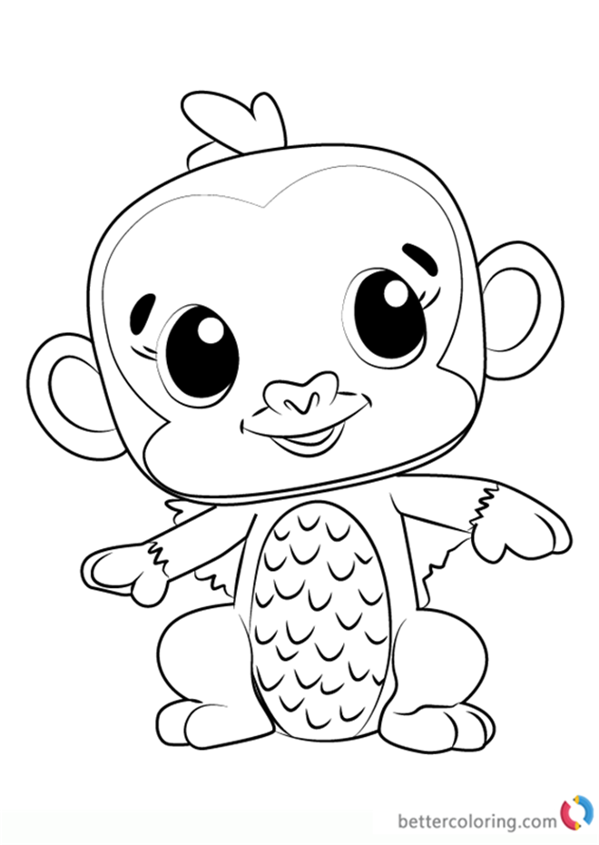 doodlebops free coloring pages   Monkiwi from Hatchimals Coloring Pages - Free Printable ...