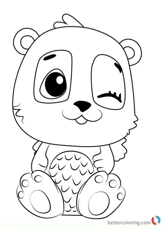 Pandor from Hatchimals coloring pages printable