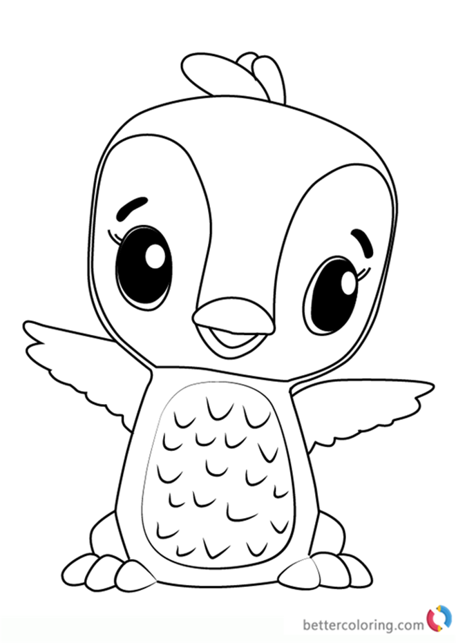 Penguala from Hatchimals coloring pages printable