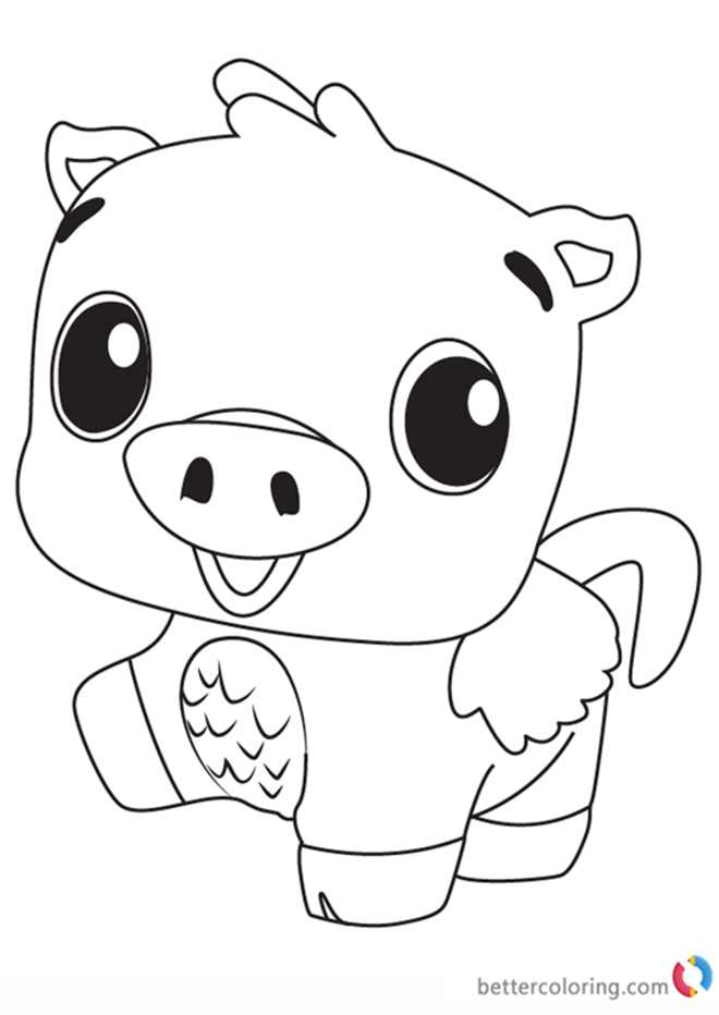 Pigpiper from Hatchimals Coloring Pages Free Printable