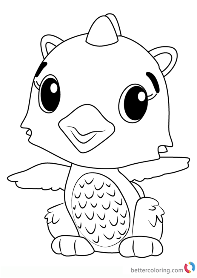 free m&m coloring pages | Polar Draggle from Hatchimals Coloring Pages - Free ...