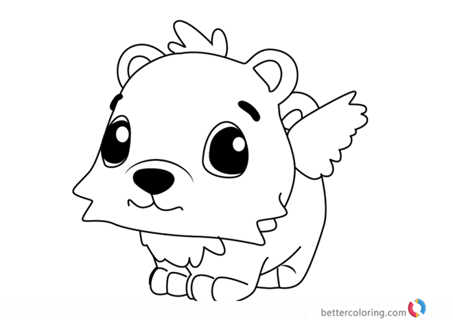 Polar Hummingbear From Hatchimals Coloring Pages Free