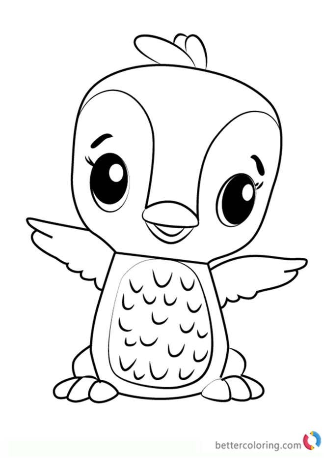 Polar Penguala from Hatchimals coloring pages printable